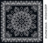 abstract lace background ... | Shutterstock .eps vector #443641009