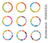 circle arrows with options ... | Shutterstock .eps vector #443642521