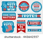 american presidential election... | Shutterstock .eps vector #443642557