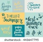 set of summer hand drawn... | Shutterstock .eps vector #443647795
