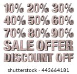 3d rendered collection of...   Shutterstock . vector #443664181