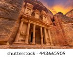 ancient temple in petra  jordan | Shutterstock . vector #443665909