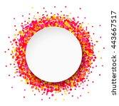 confetti round frame | Shutterstock . vector #443667517