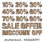 3d rendered collection of...   Shutterstock . vector #443668597