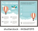 a hot air balloon themed design ... | Shutterstock .eps vector #443669395