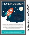a space rocket themed design... | Shutterstock .eps vector #443669401