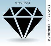big diamond vector illustration | Shutterstock .eps vector #443672431