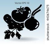 flat vegetables icon | Shutterstock .eps vector #443674675