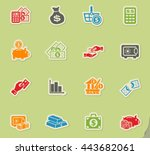 money symbols web icons for... | Shutterstock .eps vector #443682061