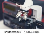 laboratory bench with...   Shutterstock . vector #443686501