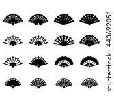 hand fan icon set | Shutterstock .eps vector #443692051