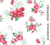 vector flower pattern... | Shutterstock .eps vector #443694361