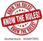 know the rules. stamp | Shutterstock .eps vector #443697091