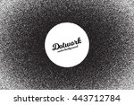 vector retro style dotwork... | Shutterstock .eps vector #443712784