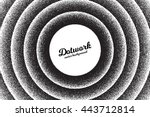 vector retro style dotwork... | Shutterstock .eps vector #443712814