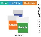 gouache can icon. flat color...