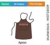 artist apron icon. flat color...