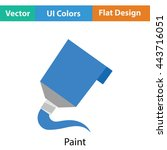 paint tube icon. flat color...