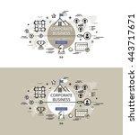 set of modern vector...   Shutterstock .eps vector #443717671