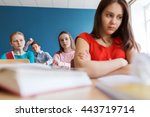 education  bullying  conflict ... | Shutterstock . vector #443719714