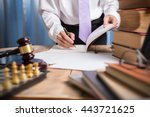 young lawyer business man...   Shutterstock . vector #443721625