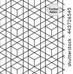 vector modern geometry pattern... | Shutterstock .eps vector #443726545