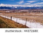 the colorado front range rocky... | Shutterstock . vector #44372680