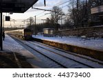 Snow Covered Train Platform...
