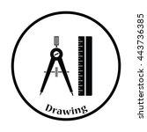 flat design icon of compasses...