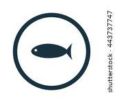 vector illustration of fish icon