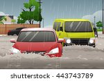 a vector illustration of car... | Shutterstock .eps vector #443743789