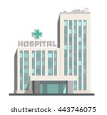 city hospital building icon on... | Shutterstock .eps vector #443746075