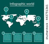 world infographics | Shutterstock .eps vector #443751361