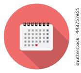 calendar reminder page flat...