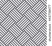 vector seamless pattern. black... | Shutterstock .eps vector #443758477