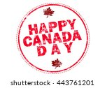 happy canada day 1st july | Shutterstock . vector #443761201