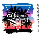 vector print california... | Shutterstock .eps vector #443761369