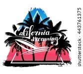 vector print california... | Shutterstock .eps vector #443761375