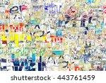 graffiti street wall. grunge... | Shutterstock . vector #443761459
