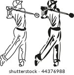 golfer | Shutterstock .eps vector #44376988