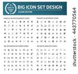 big icon set media icon finance ... | Shutterstock .eps vector #443770564