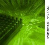 deep green background with... | Shutterstock . vector #4437733
