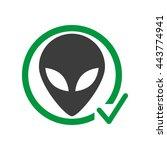 alien free allowed vector sign | Shutterstock .eps vector #443774941