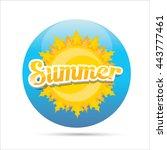 vector summer label. summer... | Shutterstock .eps vector #443777461