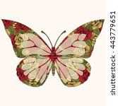 abstract butterfly with... | Shutterstock .eps vector #443779651