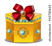 Gift Box Made Of Gold Inlaid...