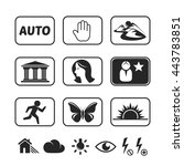 digital camera modes icons set | Shutterstock .eps vector #443783851