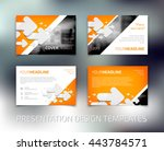 vector presentation design... | Shutterstock .eps vector #443784571