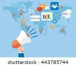 a men's hand holding a...   Shutterstock .eps vector #443785744