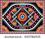 oriental ethnic pattern... | Shutterstock .eps vector #443786935